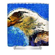 Van Gogh.s American Eagle Under A Starry Night . 40d6715 Shower Curtain