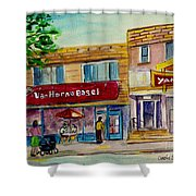 Van Horne Bagel With Yangzte Restaurant Shower Curtain