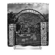 Vance Cemetery Black And White Shower Curtain