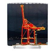 Vancouver, Bc - Harbour Shower Curtain