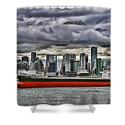 Vancouver Freighter Hdr Shower Curtain