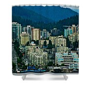 Vancouver Rooms With A View Shower Curtain