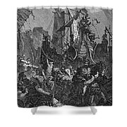 Vandal Invasion Of Africa Shower Curtain