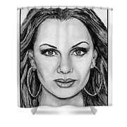 Vanessa Williams In 2009 Shower Curtain by J McCombie