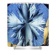 Vanillin Crystals Shower Curtain