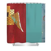 Variations Pieces Shower Curtain