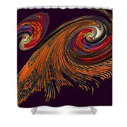 Variegated Abstract Shower Curtain