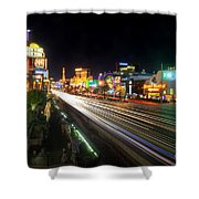 Vegas Light Trails Shower Curtain