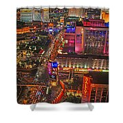 Vegas Strip Shower Curtain