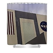 Vehicle Assembly Building Shower Curtain