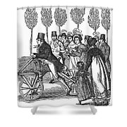 Velocipede, 1827 Shower Curtain
