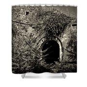 Venetian Castle Walls Shower Curtain