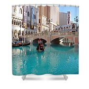 Venetian Lagoon Las Vegas Shower Curtain