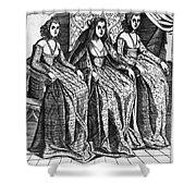 Venetian Women, C1600 Shower Curtain