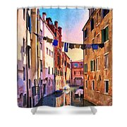 Venice Alleyway Shower Curtain