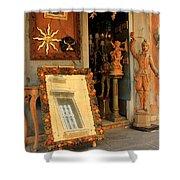 Venice Antique Shop Shower Curtain