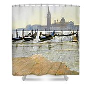 Venice At Dawn Shower Curtain by Timothy Easton