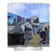 Venice Beach Wall Art 2 Shower Curtain