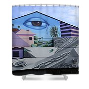 Venice Beach Wall Art 3 Shower Curtain