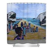Venice Beach Wall Art 4 Shower Curtain