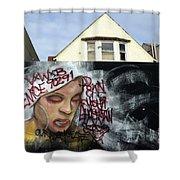 Venice Beach Wall Art 5 Shower Curtain