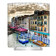 Venice Canal Taxi Shower Curtain