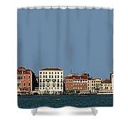 Venice Cityscape On The Lagoon Shower Curtain