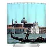 Venice From A Gandola Shower Curtain