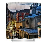 Venice From Ponte Di Rialto Shower Curtain