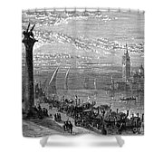 Venice: Grand Canal, 1875 Shower Curtain