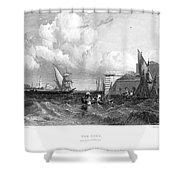 Venice: Lido, 1833 Shower Curtain
