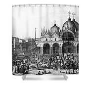 Venice: Saint Marks, 1797 Shower Curtain