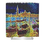 Venice Venezia Glow Shower Curtain