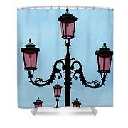 Venitian Lamp Posts Venice Italy Shower Curtain