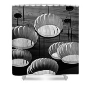 Vented Lights In Black And White Shower Curtain