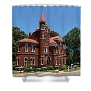 Ventress Hall Ole Miss Shower Curtain