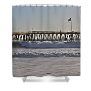 Ventura Pier Shower Curtain