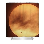 Venus Transiting In Front Of The Sun Shower Curtain