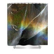 Vernal Falls Rainbow At Yosemite Shower Curtain