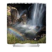 Vernal Falls Rainbow On Mist Trail Yosemite Np Shower Curtain