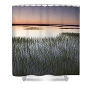 Vernal Pool At Sunrise Jepson Prairie Shower Curtain by Sebastian Kennerknecht