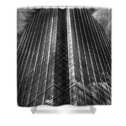 Vertical Horizon Shower Curtain by Yhun Suarez