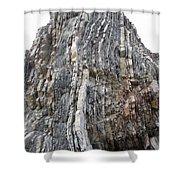 Vertical Sedimentary Strata Shower Curtain