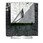 Vertical Sundial On Fenny Bentley Church Shower Curtain