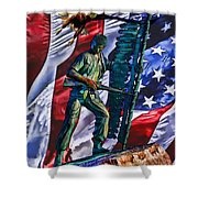 Veteran Warrior Shower Curtain