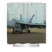 Vf-31 Tomcatters On Tarmac  Shower Curtain