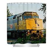 Via Rail Engine Shower Curtain