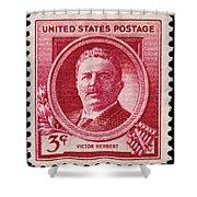 Victor Herbert Postage Stamp Shower Curtain