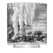Victoria Falls, C1860 Shower Curtain
