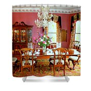 Victorian Dining Shower Curtain